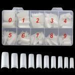 half cover natural acrylic nails