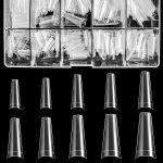 False coffin nails, false ballerina nails, short coffin nails, long coffin nails, acrylic coffin nails